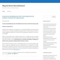 PUCP Blog de Mario Alva Matteucci
