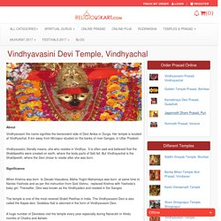 You can now book Prasad and Puja at Vindhyavasini Temple, Vindhyachal