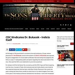 CDC Vindicates Dr. Bukacek - Indicts Itself