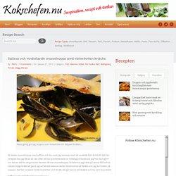 Saffran och vindoftande musselsoppa med västerbotten knäcke. -