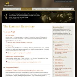 Vine of David | Remnant Repository