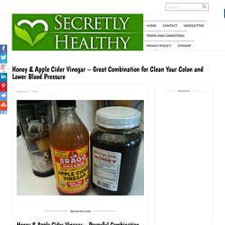Honey & Apple Cider Vinegar – Great Combination for Clean Your Colon and Lower Blood Pressure -