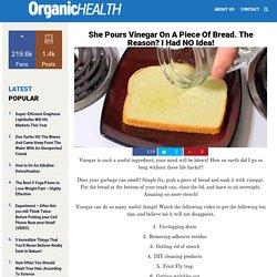 She Pours Vinegar On A Piece Of Bread. The Reason? I Had NO Idea!