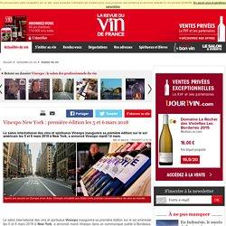 Vinexpo New York : première édition les 5 et 6 mars 2018