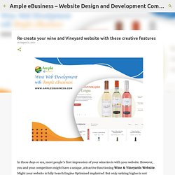 Re-create your wine and Vineyard website with these creative features