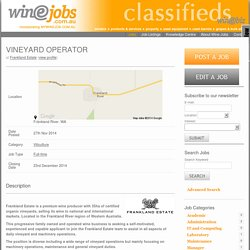 VINEYARD OPERATOR Winejobs