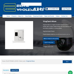 VingCard Allure Electronic locks and solutions - Elite Wholesalers