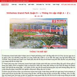 Vinhomes Grand Park Quận 9 –【 Thông tin cập nhật A - Z 】
