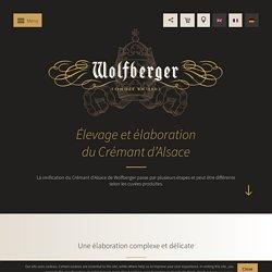 Vinification du crémant d'Alsace - Wolfberger