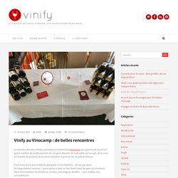 Vinify au Vinocamp
