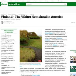 Vinland - Identifying the Viking Homeland in America