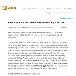 Vinsol's Spree Commerce Open Source Android App is out now!