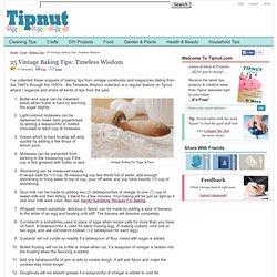 25 Vintage Baking Tips: Timeless Wisdom : TipNut.com - StumbleUpon