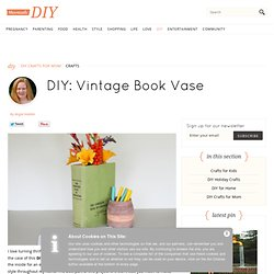 Vintage Book Vase