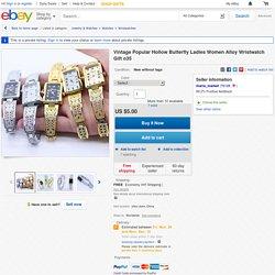 Vintage Popular Hollow Butterfly Ladies Women Alloy Wristwatch Gift O35
