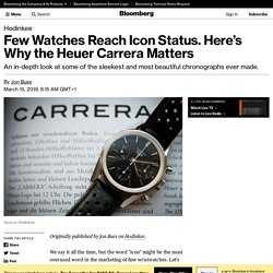 Why Vintage Heuer Carrera Watches Deserve Icon Status: History