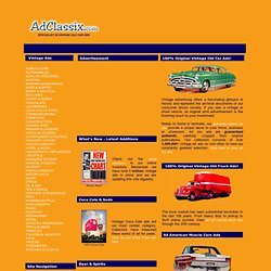 Classic Car Ads :: Copious Commercialism