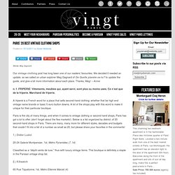 Paris' 20 Best Vintage Clothing Shops - VINGT Paris Magazine