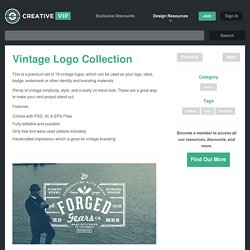 Vintage Logo Collection - Creative VIP