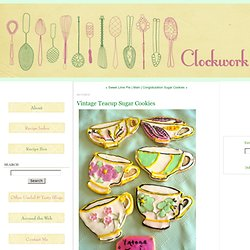 Vintage Teacup Sugar Cookies