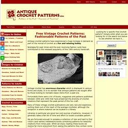 Free Vintage Crochet Patterns - All Free Crafts