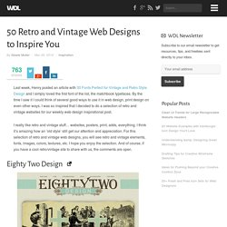 50 Retro and Vintage Web Designs to Inspire You