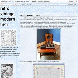 retro vintage modern hi-fi: RCA DuoCone 515S2 DIY Klipsch Rebel Cabinet