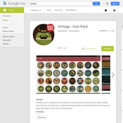 Vintage - Icon Pack - Android Apps on Google Play