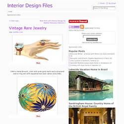 Vintage Rare Jewelry « interior design files