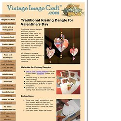 Craft a vintage-look Kissing Dangle for Valentine's Day