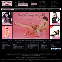 fully fashioned stockings, lingerie, girdles, corsets and bullet bras.
