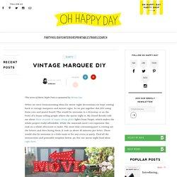 Vintage Marquee DIY