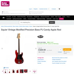 Squier Vintage Modified Precision Bass PJ Candy Apple Red for sale