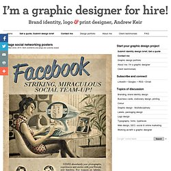 Vintage social networking posters