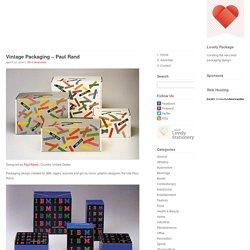 Vintage Packaging – Paul Rand