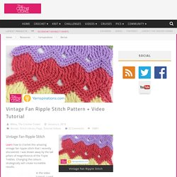 Vintage Fan Ripple Stitch Pattern