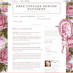 Free Vintage Sewing Patterns: ♥ The (Non-) Copyright Issue ♥