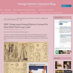 1948 « Vintage Patterns Dazespast Blog