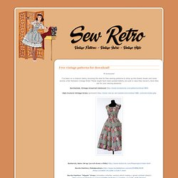 Free vintage patterns for download!