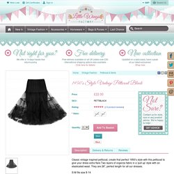 1950's Style Vintage Petticoat Black - Little Wings Factory