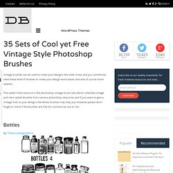 35 Sets of Cool yet Free Vintage Style Photoshop Brushes