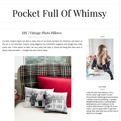 Pocket Full of Whimsy: DIY