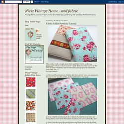 Fabric Folder Portfolio Tutorial