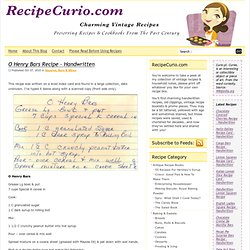 Vintage Recipes | RecipeCurio.com (5)