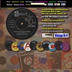 Buy Vintage Vinyl 7-Inch 45rpm Records - select45rpm - UK seller