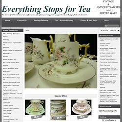Everything stops for tea Collectable retro antique & Vintage teaware tea & coffee sets trios cups saucers plates 18th to 20th century