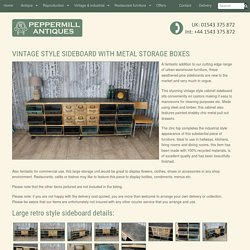 VINTAGE STYLE SIDEBOARD WITH METAL STORAGE BOX