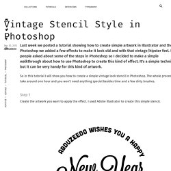 Vintage Stencil Style in Photoshop