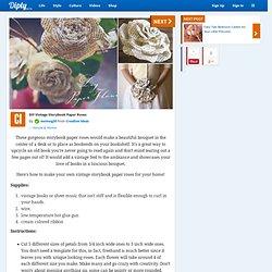 DIY Vintage Storybook Paper Roses