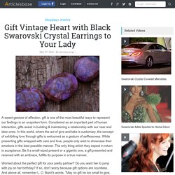 Gift your Lady with Vintage Heart with Black Swarovski Crystal Earrings and more